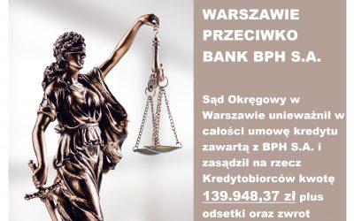 WYGRANA W WARSZAWIE Z BANKIEM BPH S.A.